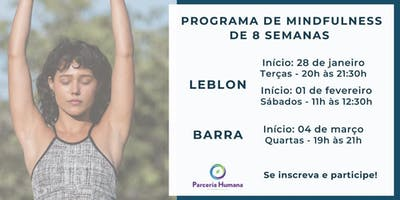 Programa de Mindfulness de 8 semanas - Sábados - Leblon