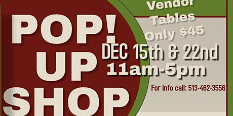 Holiday Pop Up Shop *Calling All Vendors* tickets