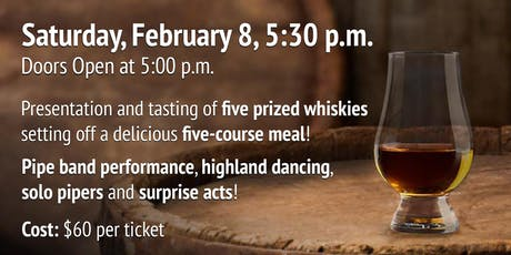 Whisky Tasting, Bagpipes & Pie Night - 2020 tickets