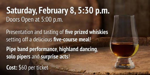 Whisky Tasting, Bagpipes & Pie Night - 2020