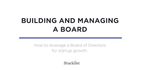 Building and Managing a Board tickets