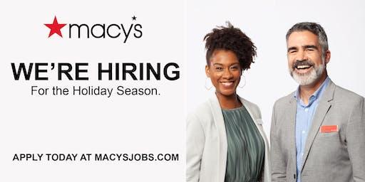 Macy's Natick Hiring Event - December 5, 11am - 7pm