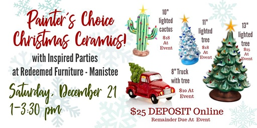 Painter's Choice - Christmas Ceramics!