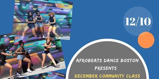 December Community Class 12/10/19