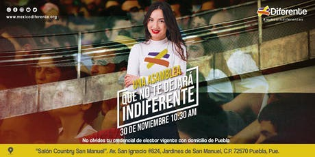 Asamblea Diferente Puebla MX boletos
