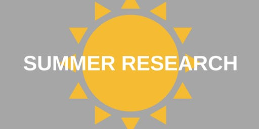 CCRF: Planning for Summer Research