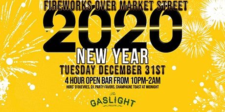 Fireworks Over Market St | New Years Eve 2020 at The Gaslight tickets