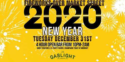 Fireworks Over Market St | New Years Eve 2020 at The Gaslight