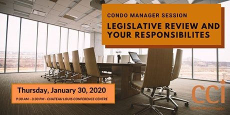 Condo Manager Session: Legislative Review and Your Responsibilities (CCI Day Session) tickets