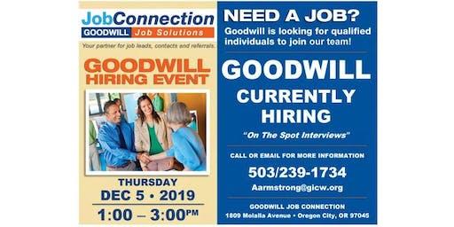 Goodwill is Hiring  - Oregon City - 12/5/19
