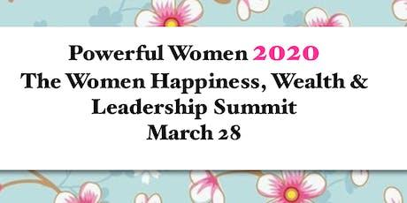 PowerfulWomen2020 The Happiness Wealth & Leadership Summit tickets