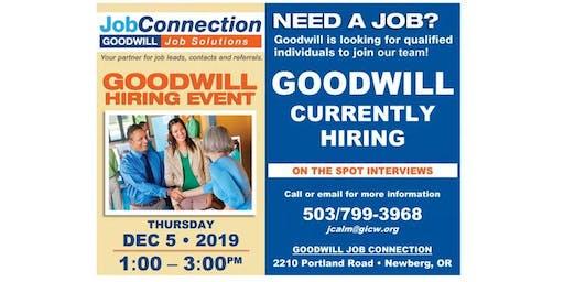 Goodwill is Hiring - Newberg - 12/5/19