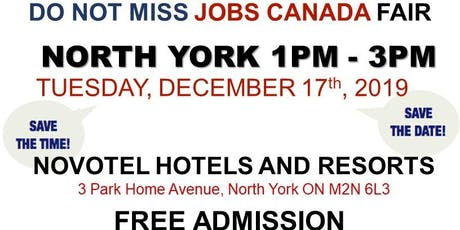 FREE: North York Job Fair – December 17th,2019 tickets