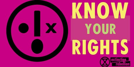 Know Your Rights Training tickets