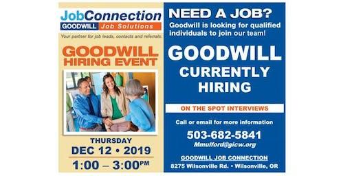 Goodwill is Hiring - Wilsonville - 12/12/19