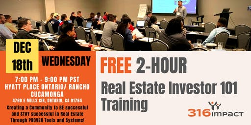 December 18th: FREE 2-Hour Real Estate Investor 101 Training in Ontario