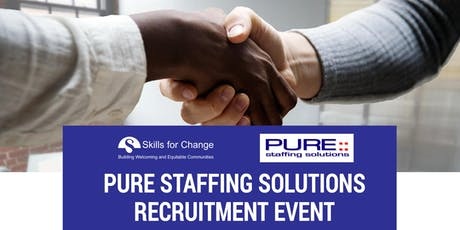 PURE STAFFING SOLUTIONS RECRUITMENT EVENT tickets
