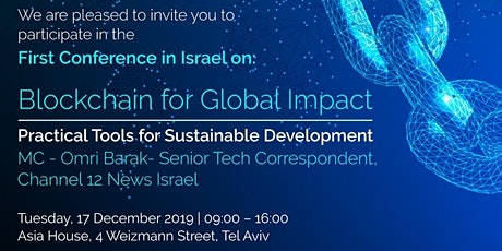 Blockchain for Global Impact: Practical Tools for Sustainable Development tickets