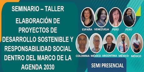 SEMINARIO TALLER ELABORACIÓN DE PROYECTOS DENTRO DEL MARCO AGENDA 2030 entradas