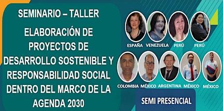 SEMINARIO TALLER ELABORACIÓN DE PROYECTOS DENTRO DEL MARCO AGENDA 2030 tickets