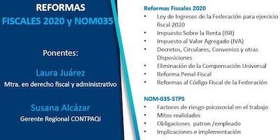 Reformas Fiscales 2020 y NOM035- STPS (Tlalnepantla)