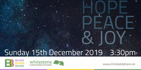 Hope, Peace & Joy - Songs and Thoughts about Jesus tickets
