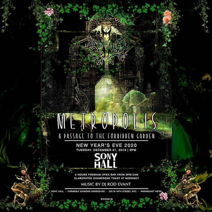 Metropolis NYE 2020 - Passage To The Forbidden Garden   5HR Open Bar image