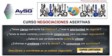 Curso de Negociaciones Asertivas ENERO 2020 AySG boletos