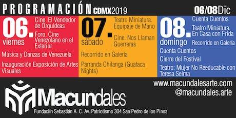 MACUNDALES 2019 entradas