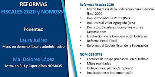 Reformas Fiscales 2020 y NOM035- STPS (Coyoacán)