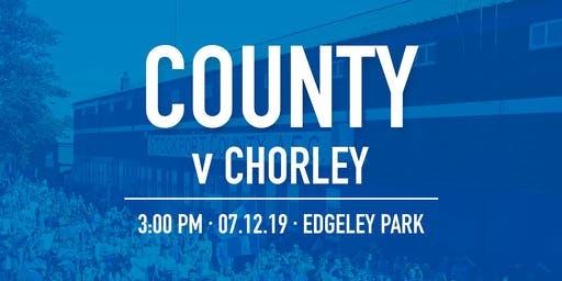 #StockportCounty vs Chorley F.C.