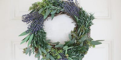 Lavender Herb Wreaths at Counter! with Alice's Table