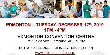 Edmonton Healthcare Job Fair - December 17th, 2019 tickets