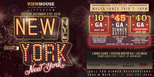 ViewHouse Littleton Presents: New York, New York 2020 New Year's Eve Party