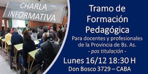 CHARLA INFORMATIVA - TRAMO DE FORMACIÓN PEDAGÓGICA