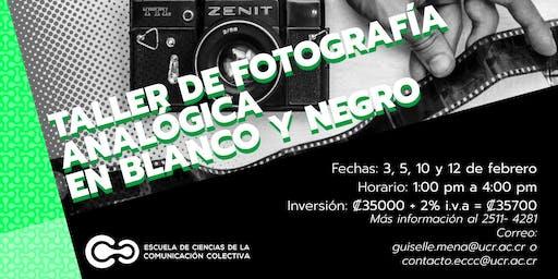 Fotografía analógica en blanco y negro
