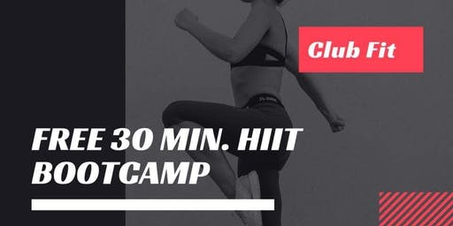 Free 30 Minute HIIT Bootcamp