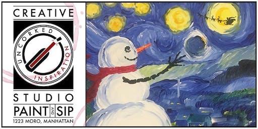 Paint & Sip | Snowy Night by Van Snow
