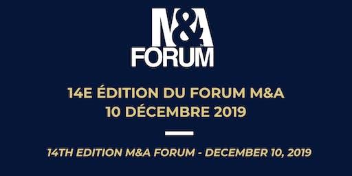 Forum M&A 14ème édition / 14th M&A Forum Montréal