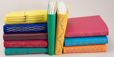 Bookbinding with Purplebean Bindery - Leatherbound Style: May 17th 11a-4p tickets