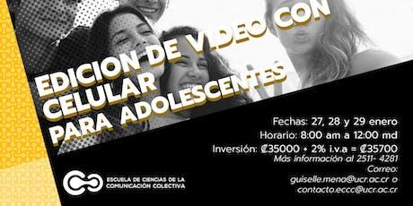 Edición de video con celular para adolescentes entradas