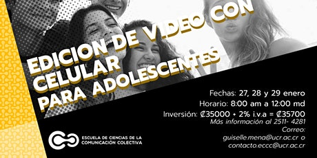Edición de video con celular para adolescentes tickets