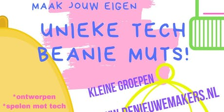 23 of 28 dec Kerstworkshop Tech Beanie Muts voor kindereren 7-12jr tickets