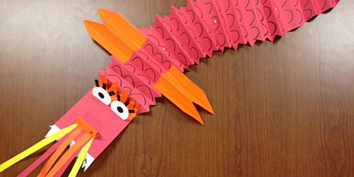 CHINESE NEW YEAR PAPER DRAGONS (mixed media) for 5-8 year olds