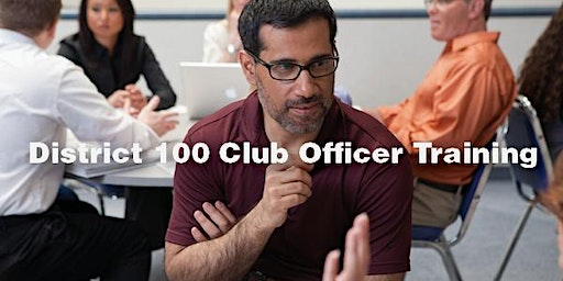Club Officer Training (South), January 19, 2020, 1-3 pm