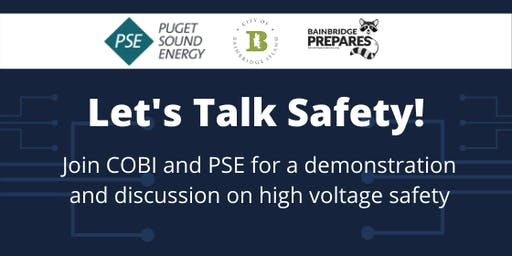 Let's talk safety! Join COBI and PSE for a discussion on electrical safety
