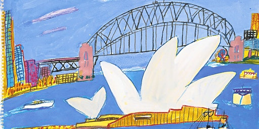 KEN DONE'S SYDNEY OPERA HOUSE (painting) for 5-8 year olds