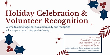 Las Vegas Recovery Holiday Celebration and Volunteer Appreciation tickets
