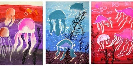 WATERCOLOUR JELLYFISH (watercolour / mixed media) for 5-8 year olds tickets