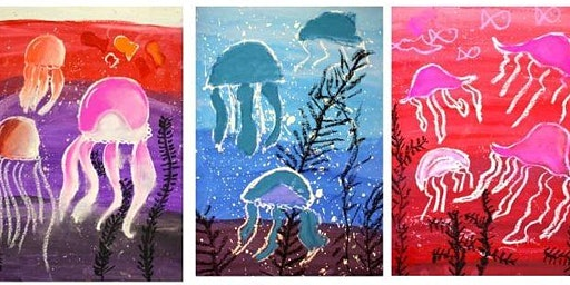 WATERCOLOUR JELLYFISH (watercolour / mixed media) for 5-8 year olds